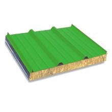 Panel de sándwich de lana de vidrio de acero galvanizado revestido del color (KXD-GS01)