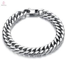 Indian Men New Cheap Design Slave pulsera de cadena de oro sólido, joyería de la Arabia Saudita de México pulsera de cadena de oro blanco