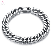 Indian Men New Cheap Design Slave Solid Gold Chain Bracelet, Mexican Saudi Arabia Jewelry White Gold Chain Bracelet