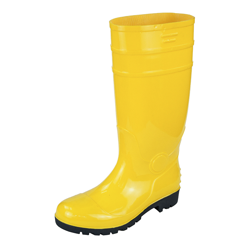 PVC industrial safety rain boots with steel toe