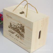 Cheap cristal de vino claro embalaje 6 botella caja de cartón de vino