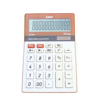 12 digits orange Calculator