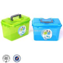 Caixa de armazenamento de plástico com alça
