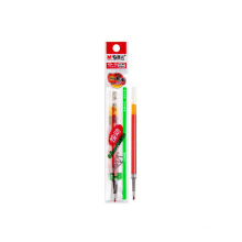 Stationery smooth gel pen red 0.5mm push writing pen refill