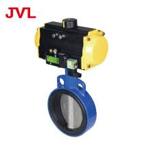 JL600 Pneumatic Soft seal worm gear butterfly valve