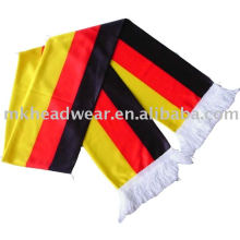 wholesale 100% polyester football team scarf