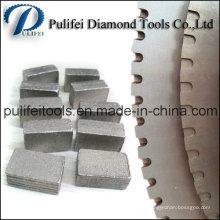 Segment de lame de coupe en granit et segment de lame de scie en marbre