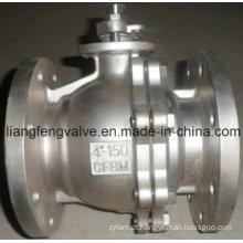 Válvula de bola API 2PC, flangeada, aço inoxidável