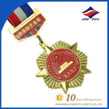Prêmio por atacado de ouro feito à medida de ouro dourado medalhas de metal