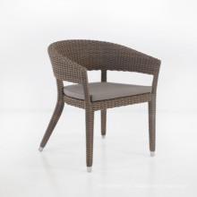 Conjunto de jardín de mimbre Rattan muebles Patio silla del brazo