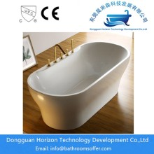Oval freestanding soaking tubs
