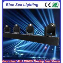 4pcs x 10W RGBW 4in1 movendo feixe de barra levou