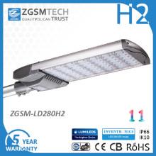 280W Bewegungssensor LED Straßenbeleuchtung mit Fotozelle