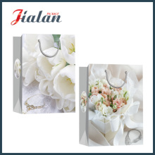 Moda Glossy Laminated Ivory Paper Wedding Shopping Gift Paper Bag