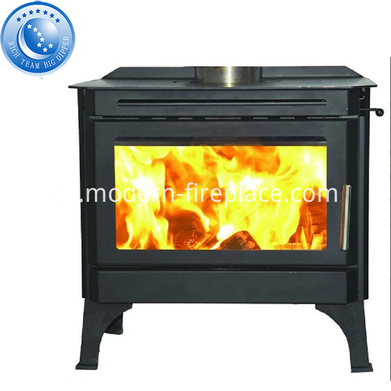 Zero Clearance Log Burner In Fireplace