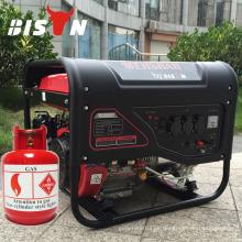 BISON (CHINA) Taizhou generador de gas 5KW a la electricidad con aire refrigerado
