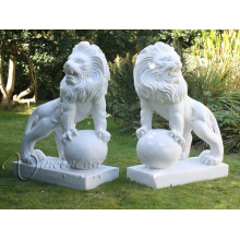 2018 sculptures en pierre de haute qualité en marbre sculptures de jardin lion