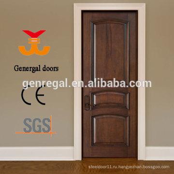 Лакированная 100% твердой древесины двери спальни