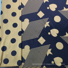 Tissu Jacquard Brocart Motif Géométrique Bleu