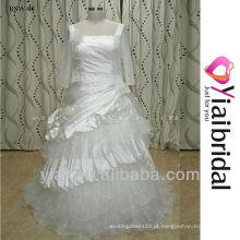 RSWP88 Barco com pescoço vestido de noiva de manga comprida