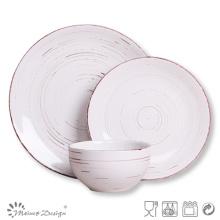 18PCS cerámica de cerámica antigua juego de mesa lavavajillas seguro