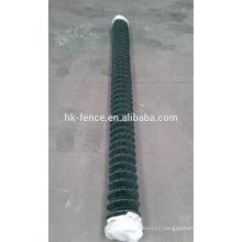 покрынная PVC гальванизированная звена цепи диаманта ограждения в ролл используются в горнодобывающей сфере