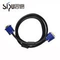 SIPU mejor perfermance HD 1 metro de computadora vga 15 pines macho a macho de cable 3 + 6 vga cable