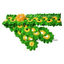 Pañuelos de flores hechos a mano con cuentas de moda hechos a mano