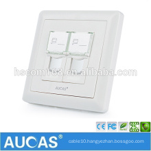 cat5e network RJ45 telephone RJ11 dual port faceplate / systimax cat6 UK style US style wall plate