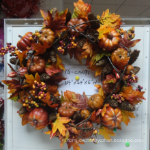 High Quality Plastic Foliage Wreaths containing leaves and berries