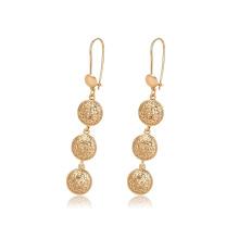96820 xuping newest design fashion 18k gold color ball shape women's drop earrings