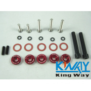 Password Jdm Valve Cover Washers D-Series 5 Pack Red, Silver, Black, Grey, Purple, Green, Blue, Gold