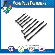 Feito em Taiwan Phillips Bugle Head Drywall Screw Sharp Point e Self Drilling Point Gray Phosphate Bright Zinc Plated HDG