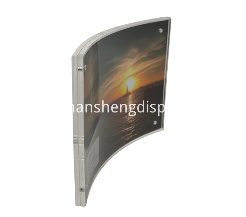 Curved Acrylic Picture Frame