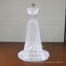 XF16117 robe de mariée en mousseline de soie haute qualité élégante styles boho de robes de mariage pour femmes