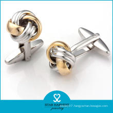 Wholesale 2 Tones Plated Silver Knot Cufflinks (SH-BC0009)