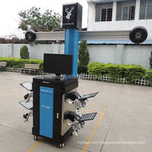 High quality garage equipments 3d wheel alignment with low-speed motor aluminum alloy pole