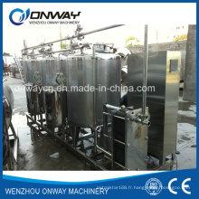 Système de nettoyage CIP en acier inoxydable Machine de nettoyage alcaline pour le nettoyage en place Le réservoir de nettoyage industriel en acier inoxydable