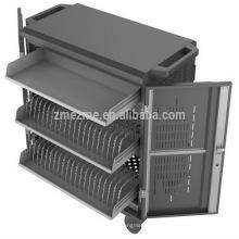 Sincronización industrial del carro de carga del almacenamiento móvil de ZMEZME para el eje del USB, almacenamiento de acero del carro / del gabinete de carga de la tableta con calidad superior