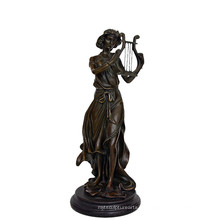 Decoración de música Estatua de latón Jugador de hadas Tallado Escultura de bronce Tpy-960