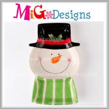 Новый стиль керамический Снеговик формы пластины как уникальные Новогодние подарки