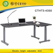 Ottawa platzsparende Möbel L-Form Stahl höhenverstellbarer Schreibtisch