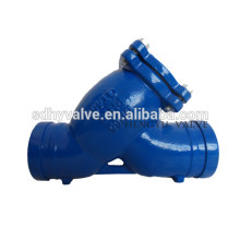 groove end DN50-DN1400 cast iron water strainer