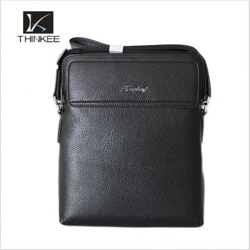 Trendy Male Leather Hand Bags Classical Designer Brand Handbags Custom