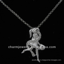 Горячие ювелирные изделия стерлингового серебра ангела сбывания 925 вымощают шкентель cz PSS-004