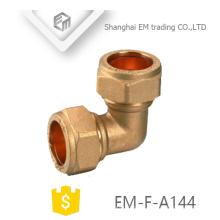 EM-F-A144 Brass conector de compressão rápida cotovelo pex encaixe do tubo de encaixe de tubulação