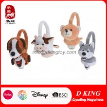 Populäres lustiges angefülltes Tierkopf-weiches Plüsch-Ohrenschützer-Spielzeug