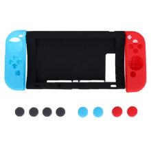 11 in 1 Silicone Rubber Case für Nintend Switch NS NX Konsole Schutzhülle mit Joy-Con Stick Grips Cover