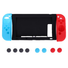 11 in 1 Silicone Rubber Case for Nintend Switch NS NX Console Protective Skin Cover with Joy-Con Stick Grips Cover
