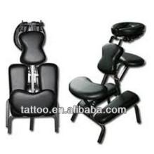 Cama ajustable del tatuaje de la silla negra del tatuaje